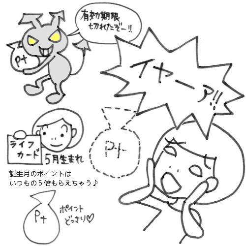 ライフカード☆有効期限切れでポイント消滅!